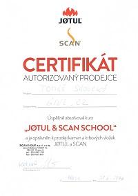 Certifikát Jotul