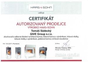 Certifikát Haas+Sohn